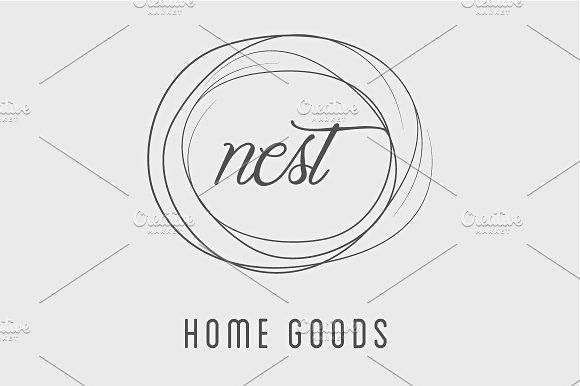 Simple Nest / Home Good Logo - Objects