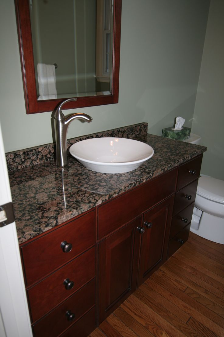 Bathroom Remodel Porcelain Vessel Sink Bowl Sink Stone Counter Top Framed Standalone