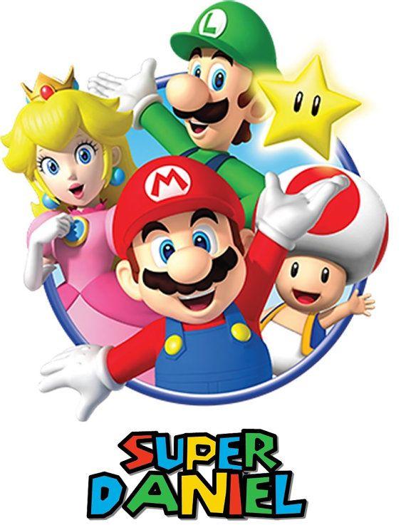 Personalizada Super Mario Bros T-Shirt camiseta de por SalomeCrafts