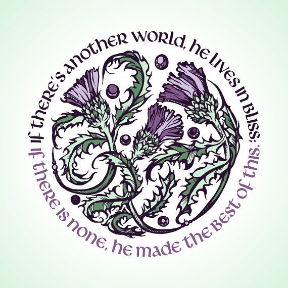 Robert Burns Quote - Scotland Thistle Print