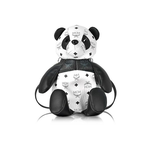 MCM Handbags Black & White Panda Crossbody Bag (€790) ❤ liked on Polyvore featuring bags, handbags, shoulder bags, purse shoulder bag, purse crossbody, crossbody shoulder bag, mcm and mcm purse