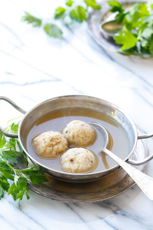 My Grandmother's recipe for Traditional Matzo Ball Soup. Perfect for Passover!