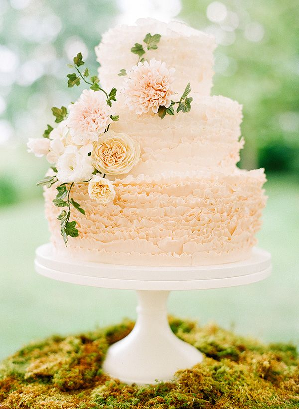 katie stoops photography-maggie austin cake | Peach and Cream Cake