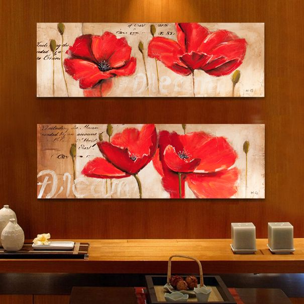 Poppy wall art 10 handpicked ideas to discover in other - Oil painting ideas for living room ...