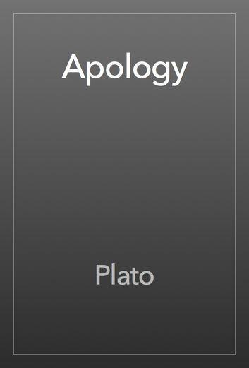 Apology - Plato   Philosophy  501267865: Apology - Plato   Philosophy  501267865 #Philosophy