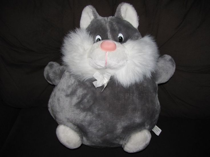 Stuffed Animal Pillows With Pockets : Target Plush Pajama Holder Pocket Stuffed Animal Pillow Cat Grey #Target SOLD Sorry you missed ...