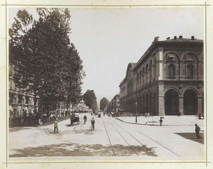 Historical photo of Turin: Corso Vittorio Emanuele II, company's headquarters