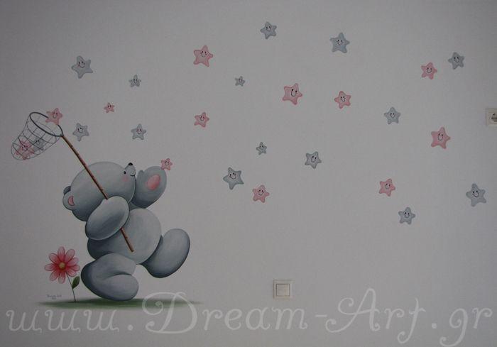 Ζωγραφική στον τοίχο παιδικού δωματίου