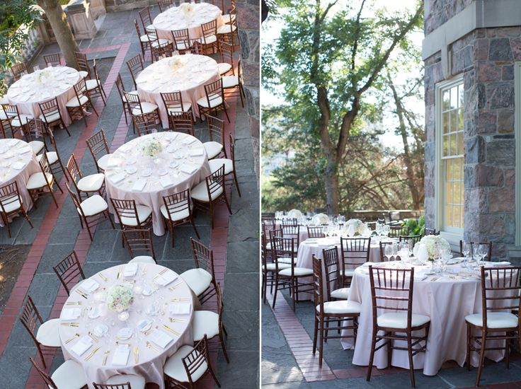 Graydon Hall Manor wedding table decor in soft pink and ivory with gold accents