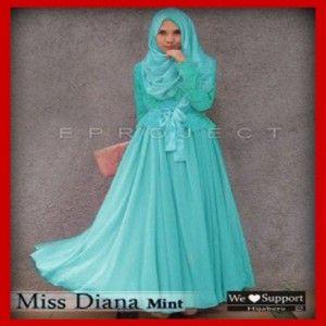Baju Gamis Pesta Modern Diana Mint
