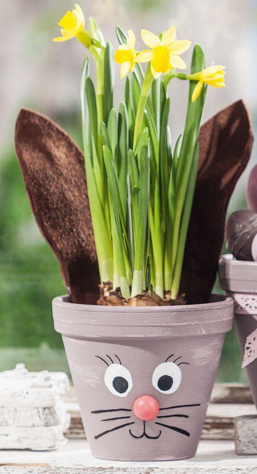 Österliche Blumentöpfe mit Chalky Color – Kostenlose Anleitung. ✓ Einfach nachzumachen ✓ Material online bestellen ✓