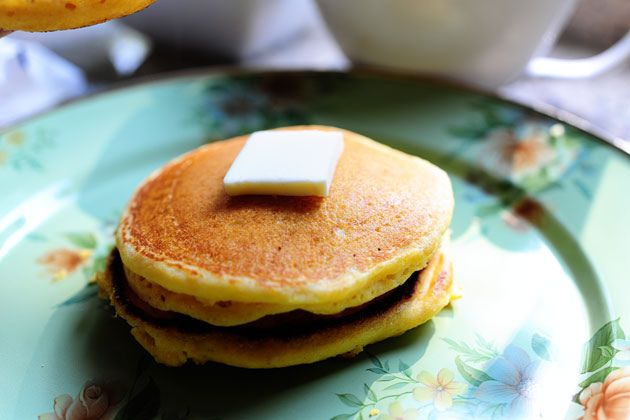 Cornmeal Pancakes with Blackberry Syrup | The Pioneer Woman Cooks ...