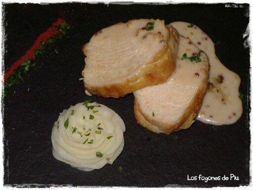 Suprema de pollo a la mostaza antigüa