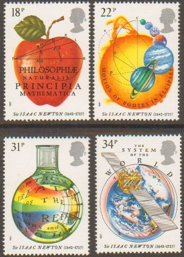 Science, British stamps
