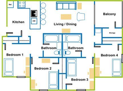 Student Housing Floor Plan Student Accom Student House