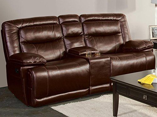 Topeka Dual Power Motion Recliner Loveseat in Brown >>> You can get additional details at the image link.