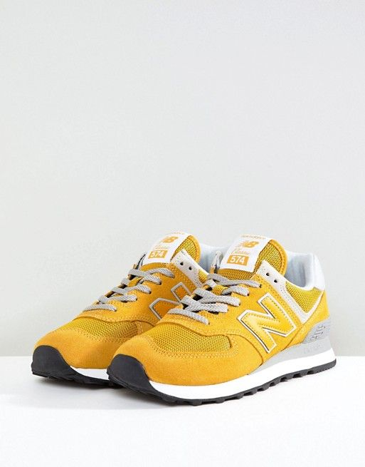 super popular 9a809 f4e56 New Balance 574 Suede Trainers In Yellow | Autumn/winter ...