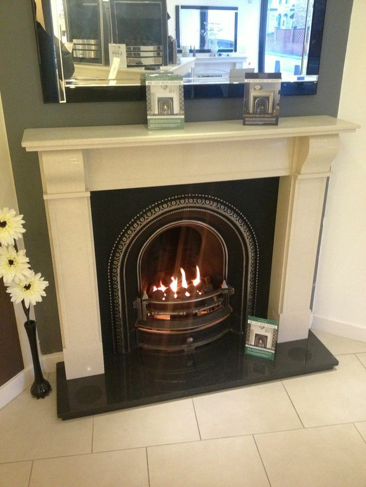 Marble Modern Arched Fireplace Including Gas Or Electric