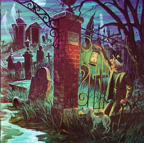 Disney's Haunted Mansion Graveyard - I love old Disney movies!