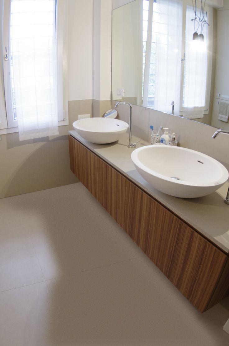 Top lavabi Agape realizzato in Jaipur Vanilla - / -  BlancoMarmo.it / Arredi realizzati da Oggetti.it / design by LauroGhedini.com