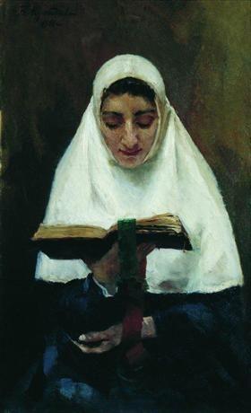 Монахиня - Борис Кустодиев