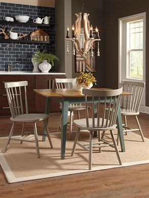 Gibson Furniture   Gallatin, Hendersonville, Nashville TN Bantilly  Rectangular Drop Leaf Table W/ 4 Gray Side Chairs Table And Chairs For The  Breakfast Nook