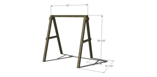 A-frame swing plans The Design Confidential:http://www.thedesignconfidential.com/2012/03/free-diy-furniture-plans-build-swing-frame