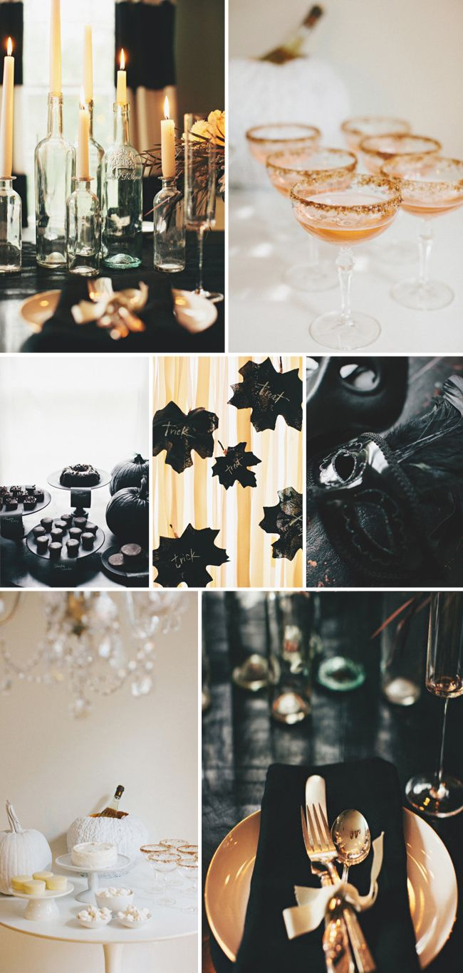 i saw these stunning halloween themed dinner party photos on style me pretty last week and i had to share it can be hard to find inspirati - Classy Halloween Decorations