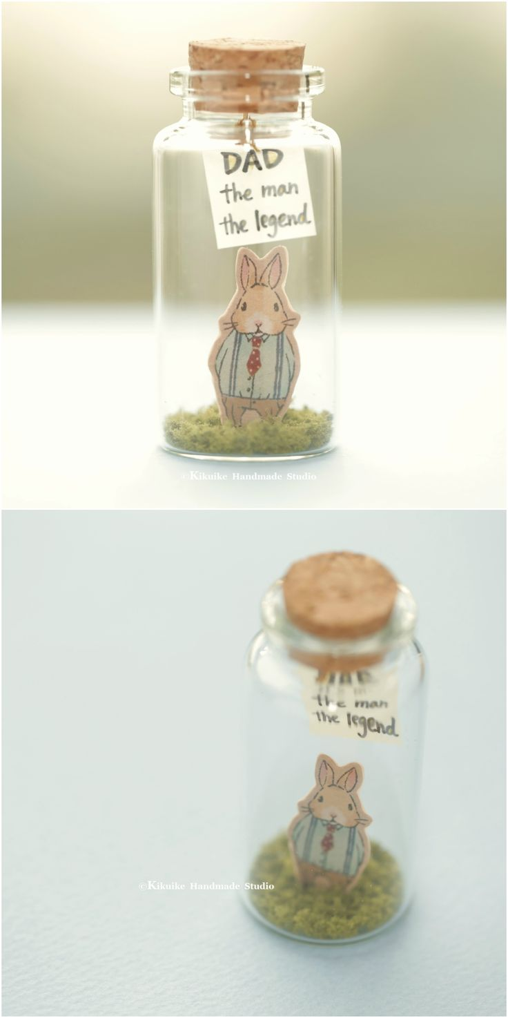 Dad the man, the legend,Tiny message in a bottle,Miniatures,Personalised Gift,Love Card,Valentine Card,Gift for Dad/him, birthday card, message card and father's day card ideas #rabbit #bunny #holidaycard #cuteanimals #handmade #custom #unique #cute  #art #gold #messagecard #homedecor #deskdecor #glitter #lovecard #sweet #greetingscard #paper #seasonalcard #partygift  #personalizedgift #Longdistancegift #birthdaycard #kikuikestudio #tiny  #pet #illustration  #ウサギ #lapin #coniglio #Hase