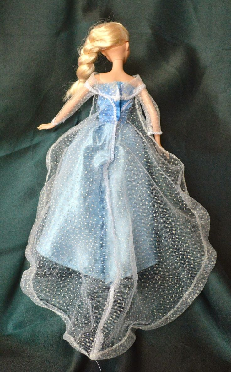DIY Elsa and Anna Barbie Clothes