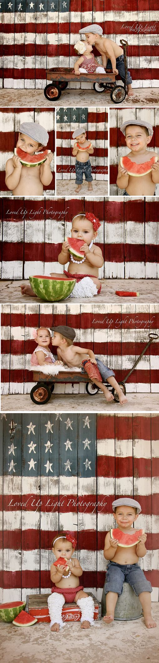 4th of july mini shoot Loved Up Light Photography: {Kids} Love this back drop!.. © Loved up Light Photography #4thofJuly #RedWhiteandBlue:
