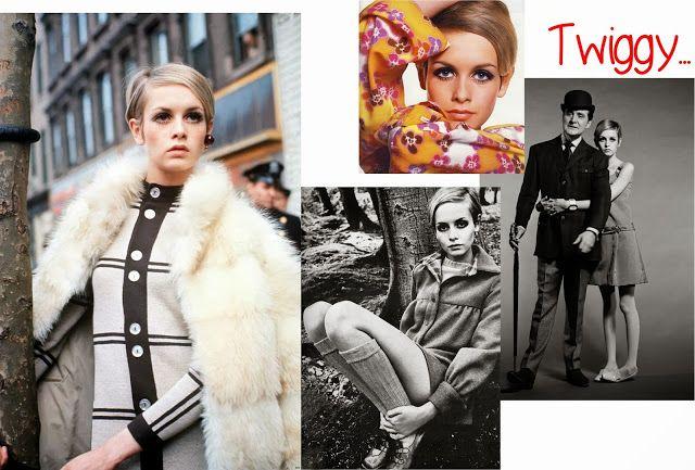 60 yıllarda ilk defa mankenler, moda yaratıcıları kadar ön plana çıkmıştır. Twiggy* adlı mankenin sunduğu yeni silüet kapsamında; zayıflık imajı, belirgin olmayan göğüs hattı, süper mini etekler ve söz konusu mankenin adını alan göz makyajı stili bütün moda dünyasını etkisi altına almıştır. Öyle ki Twiggy, aynı şekilde altmışlarda 'mini etek'i yaratarak moda dünyasına kazandıran İngiliz tasarımcı Mary Quant'ın en ünlü mankeni olarak yer almıştır.  #1960 #60
