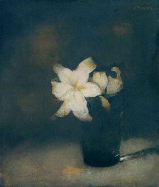 Jan Mankes Glas met lelie, 1910