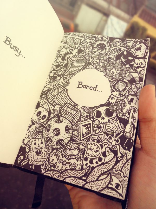 2011-2012 DOODLES Batch 3 : Moleskin Drawings by Lei Melendres, via Behance Perfect for a Wreck-It-Journal