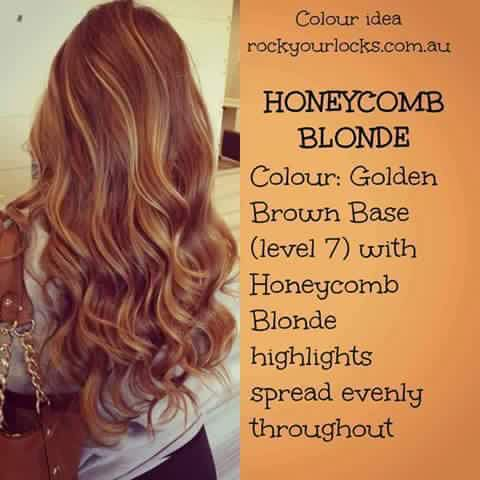 Honeycomb Blonde: Golden Brown Base with Honeycomb Blonde Highlights