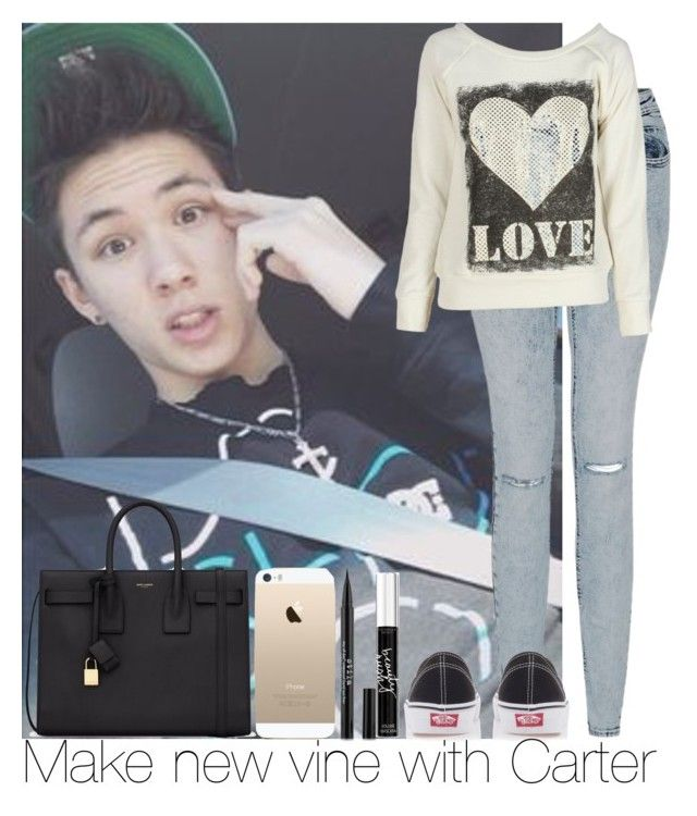 Make new vine with Carter by irish26-1 on Polyvore featuring polyvore, fashion, style, Yves Saint Laurent, Vans and Victoria's Secret