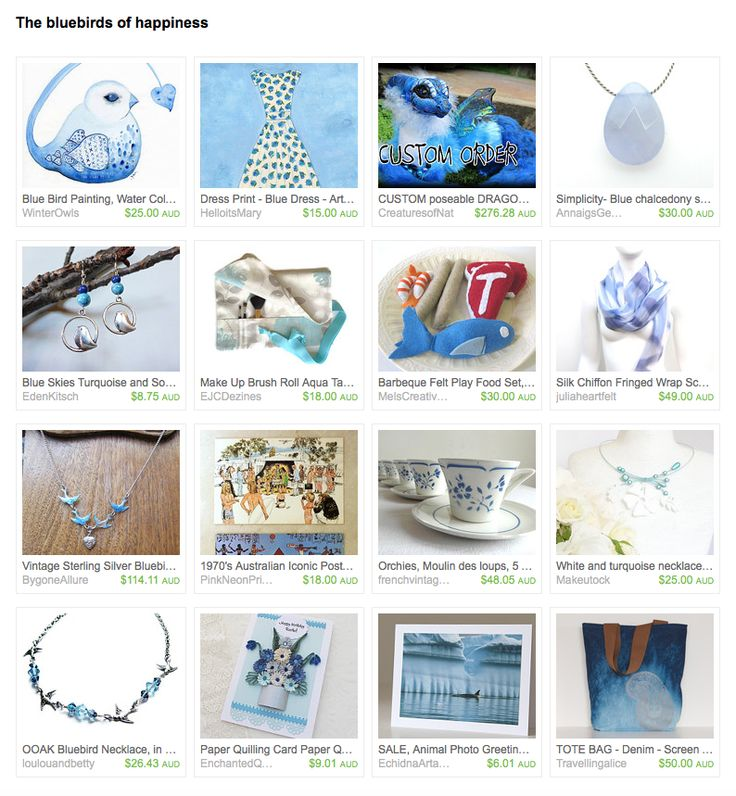 The Bluebird of Happiness by Meg on Etsy