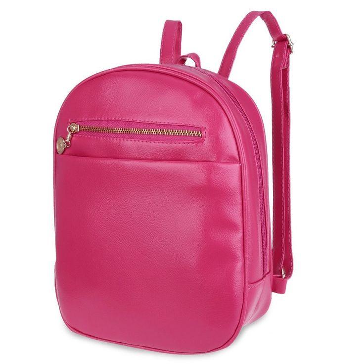 Beleza Simple Design Girl School Backpack Ladder Lock Button Shape Zipper Head Solid Color Portable Bag Backpack for Women Bag