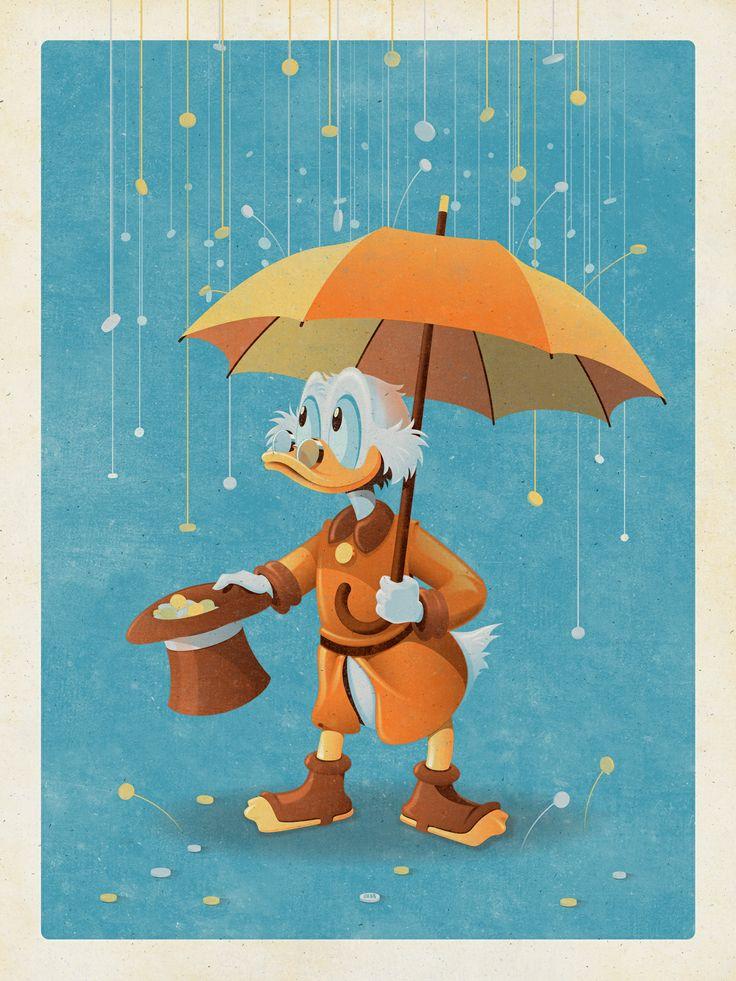Uncle Scrooge (Variant) art print by DKNG