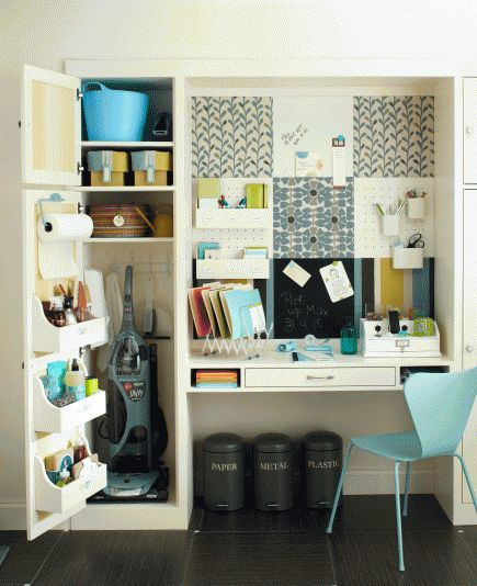 Organizing the clutter of our lives doesn't mean relying on boring boxes. Think out of the box for clever ways to store necessities throughout your home.