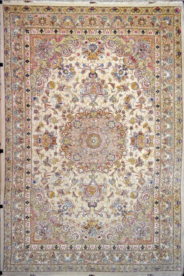 Fl Tabriz Silk Persian Rug Item Size 250 X 350 Cm 2 5 Ft