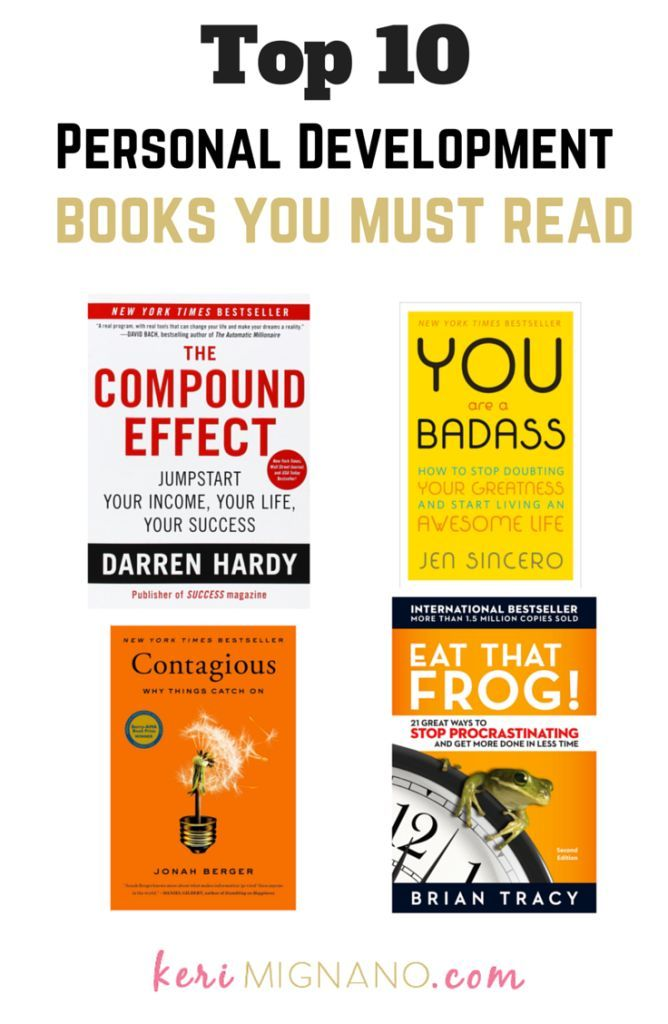 Top Personal Development Books to Read | Best Personal Development Books | Find more suggestions at www.kerimignano.com | Top Beachbody Coach | Top Arizona Beachbody Coach | Elite Beachbody Coach