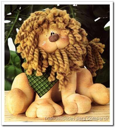 Manualidades para compartir: adorable stuffed lion décor NOT in English, but nice photos/tutorial