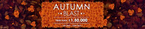 Autumn Blast at Adda52... Win from the prize pool of Rs.1.5 Lakh !! Start playing rummy today and earn big.