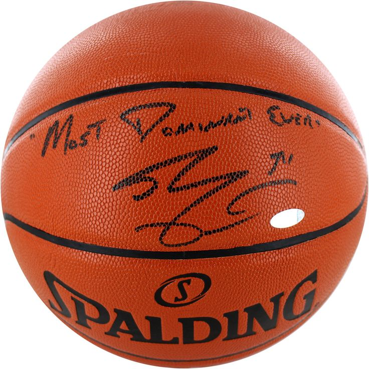 Shaquille ONeal Signed IO Basketball w Most Dominant Ever - Lakers Legend Shaquille ONeal personally hand-signed this NBA I/O Basketball and inscribed it Wilt Chamberneezy. Shaq was without question one of the most dominant players of his generation. After being selected 1st overall by the Orlando Magic in the 1992 NBA Draft ONeal won the Rookie of the Year Award in his first season. Over the course of his illustrious career ONeal went on to be a 3x NBA Finals MVP a 15x All-Star 3x All-Star…