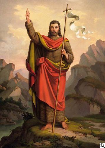 Wilhelm von Schadow: Johannes der Täufer vor felsiger Landschaft aus unserer Rubrik: Gemälde des 19. Jahrhunderts