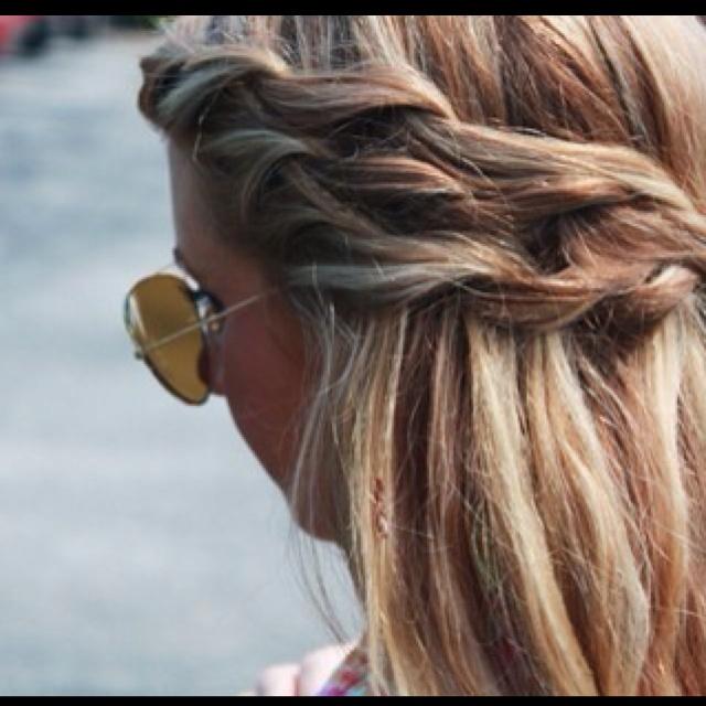 Cute do: Braids Hairstyles, Hair Colors, Waterf Braids, Summer Hair, Long Hair, Beautiful, Double Braids, Hair Style, Side Braids