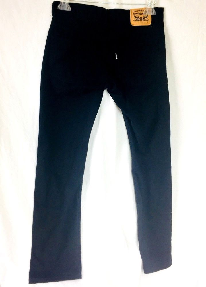 Levis 511 Slim 16 Regular 28 x 28 Boys Jeans Black Stretch Denim White Tab   #Levis #ClassicStraightLeg #Everyday