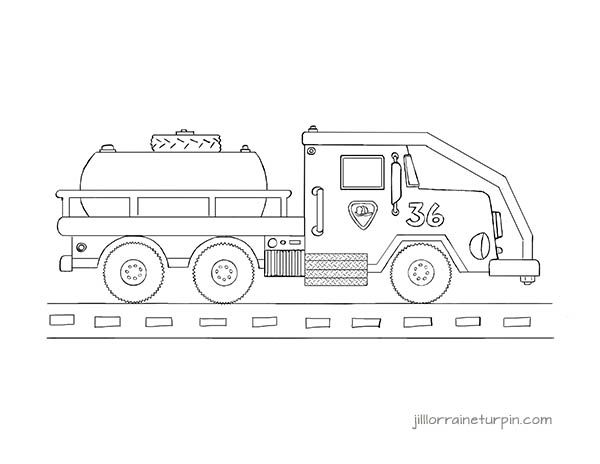 Free, Printable Tanker Fire Truck Coloring Page At Http
