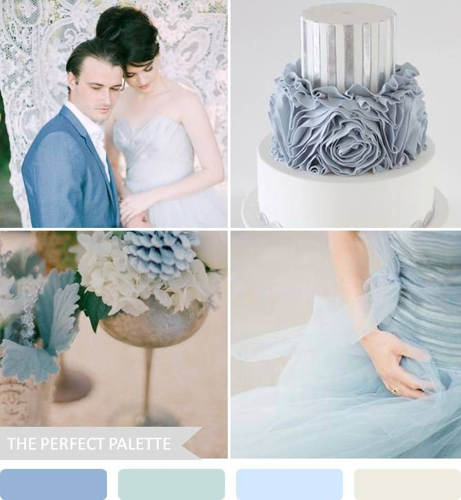 shades of blue and silver.... a sweet and relaxing palette. #wedding #palette #destinationwedding